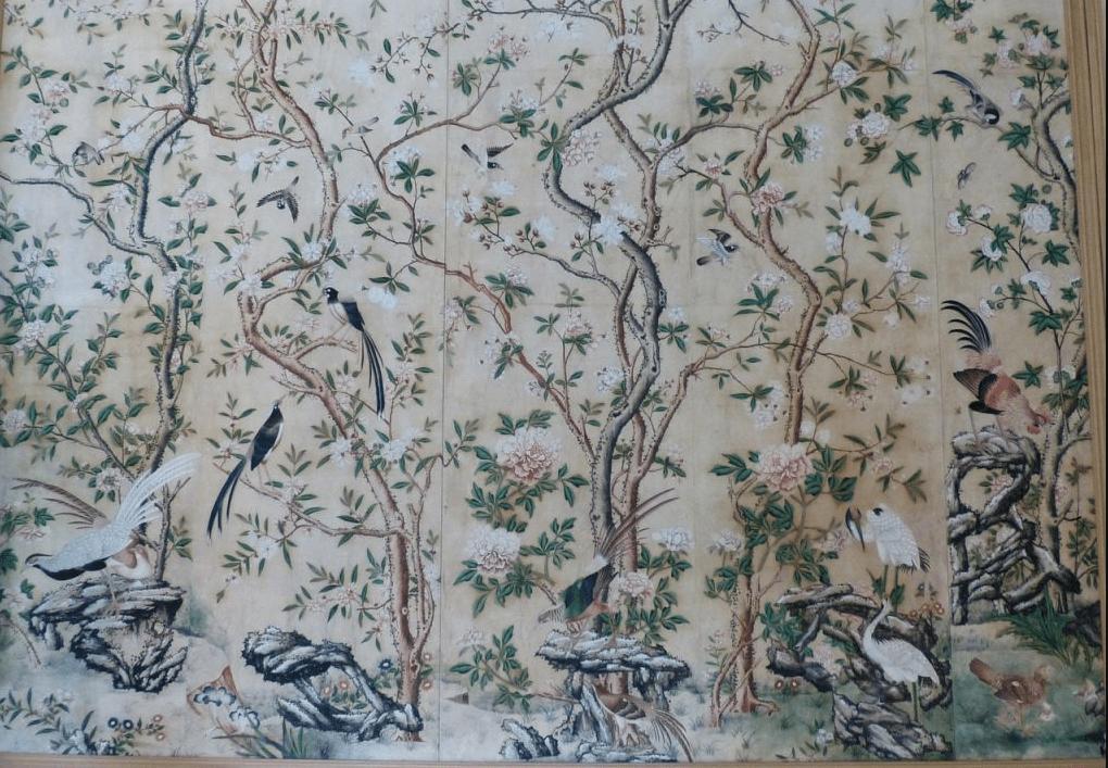 Décoration papier-peint aux motifs inspirés de la Chine