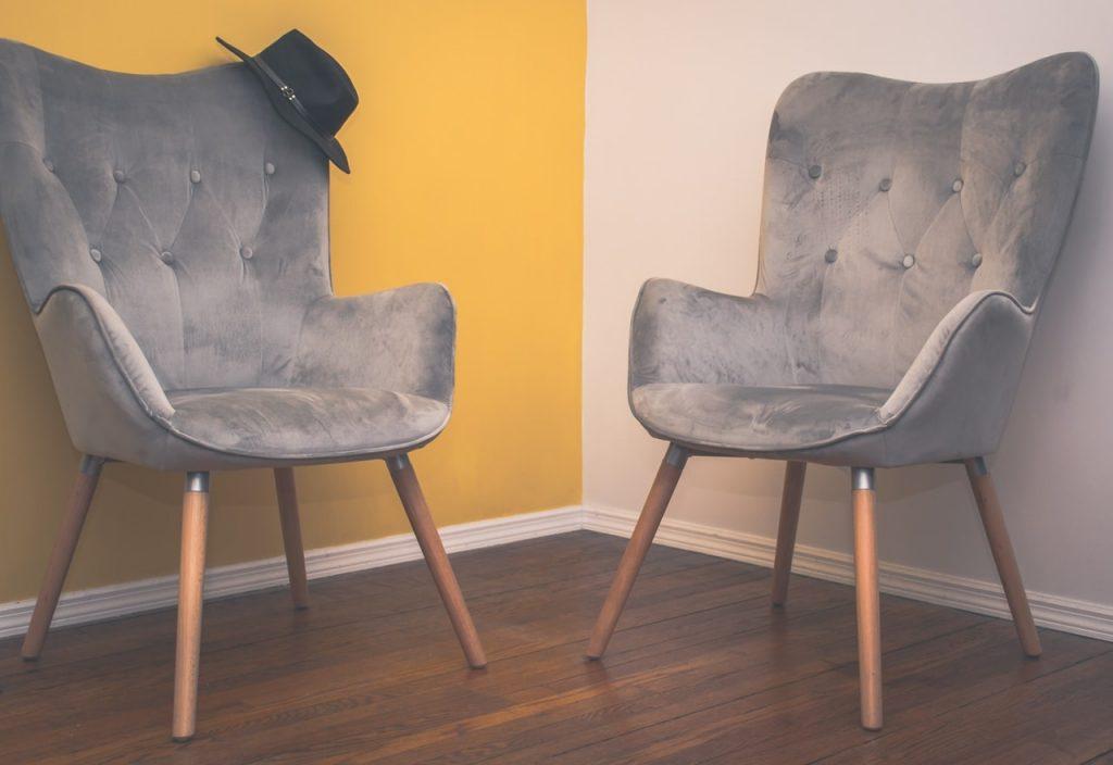 Décoration fauteuils en velours